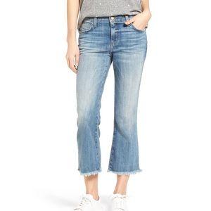 Current/Elliot cropped Flip Flop flare jeans